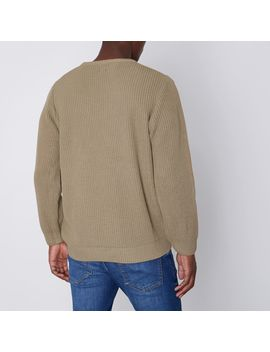 camel-crew-neck-fisherman-sweater by river-island