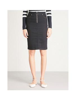 high-rise-denim-skirt by karen-millen