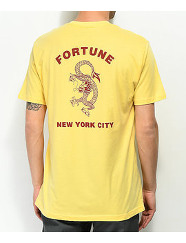fortune-dragon-yellow-t-shirt by fortune-ny
