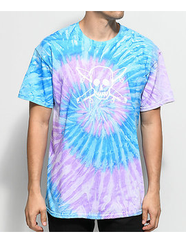 fourstar-skate-pirate-blue-&-purple-tie-dye-t-shirt by girl