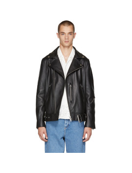 black-nate-clean-leather-jacket by acne-studios