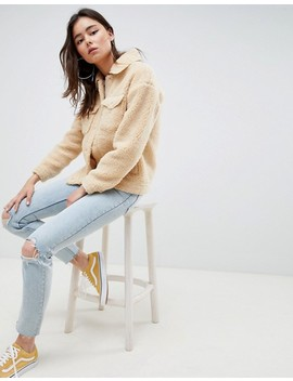 missguided-tall-teddy-jacket by missguided-tall