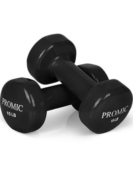 promic-1lb-to-20lb-hand-weights-deluxe-vinyl-coated-dumbbells-(sold-in-pair)---non-slip,-multi-colors-available by promic
