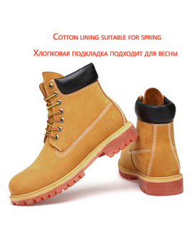 big-size:36-47-yellow-men-boots-waterproof-cow-suede-leather-boots-lace-up-ankle-boots-for-men-high-quality-shoes-men by zsuo