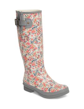 julia-floral-waterproof-rain-boot by chooka
