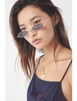 salem-slim-oval-metal-sunglasses by urban-outfitters