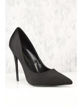 sexy-black-pointy-toe-high-heels-single-sole by ami-clubwear