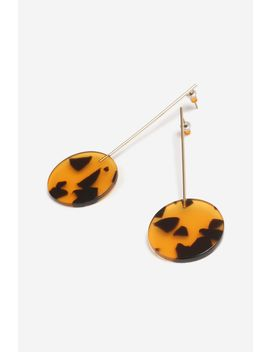 **tortoiseshell-stick-drop-earrings by topshop