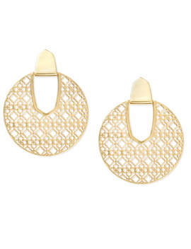 diane-gold-statement-earrings-in-gold-filigree by kendra-scott