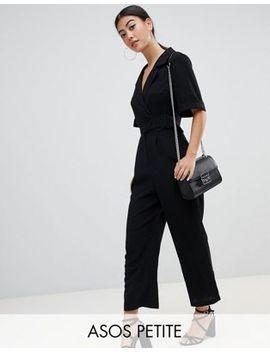 asos-design-petite-wrap-jumpsuit-with-self-buckle by asos-design