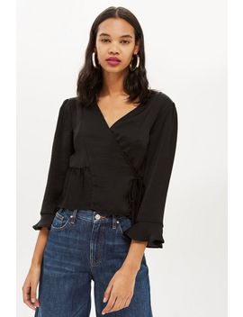 frill-wrap-blouse by topshop
