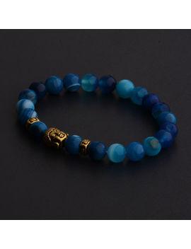 charm-natural-gemstone-beads-buddha-head-beaded-lava-rock-handmade-bracelets by douvei