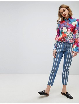 lost-ink-shirt-in-floral-with-shirred-bell-sleeve by lost-ink