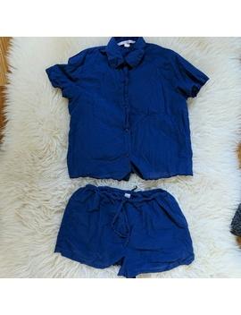 victorias-secret-blue-pj-short-set-cotton-xs by victorias-secret