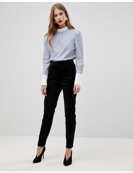 yas-contrast-striped-blouse by yas