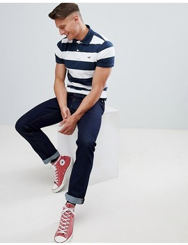 hollister-block-stripe-seagull-logo-polo-in-navy by hollister