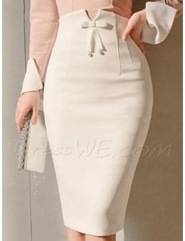 Bowknot Zipper High Waist Women's Skirts by Dress We
