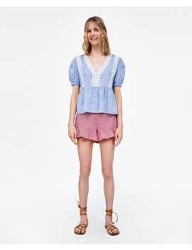 striped-top-with-lace--shirts-i-topssale-woman by zara