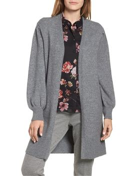 drama-bubble-sleeve-cotton-blend-cardigan by vince-camuto
