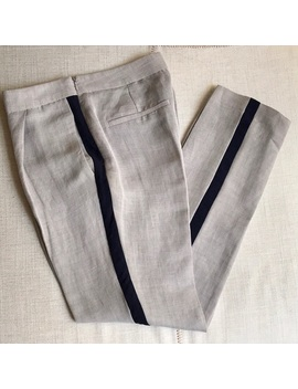 zara-linen-trousers-with-contrasting-trims by zara