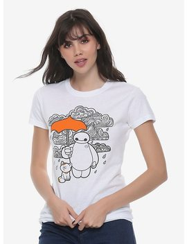 Disney Big Hero 6 Baymax &Amp; Mochi Umbrella Girls T Shirt by Hot Topic