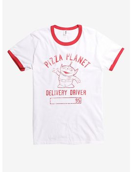 Disney Pixar Toy Story Pizza Planet Delivery Driver Ringer T Shirt by Hot Topic