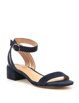 Mabbela Suede Ankle Strap Block Heel Sandals by Generic