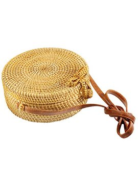 senvina-round-rattan-bag-(rattan-clasp)-w_-bonus-1-pair-of-cute-rattan-earrings by senvina
