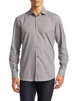 plaid-button-down-shirt by ermenegildo-zegna