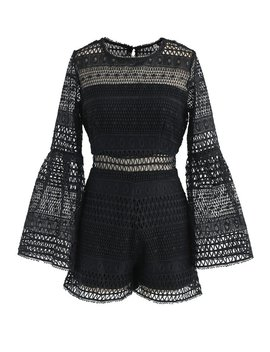 call-it-trendy-crochet-playsuit-in-black by chicwish