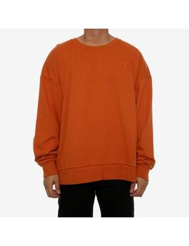 saint-morta-monogram-oversized-sweater-mud-orange by saint-morta