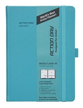 action-day-academic-planner-2018-2019---worlds-best-goals-&-action-layout-that-gets-things-done-&-increase-productivity---daily,-weekly,-monthly,-yearly-organizer-(8x11,thread-bound,black) by action-day®