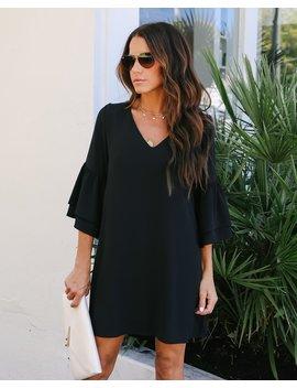 bellina-bell-sleeve-shift-dress---black by vici