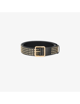 gold-studded-leather-belt by alexander-mcqueen