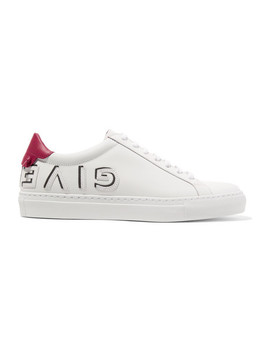 urban-logo-appliquéd-leather-sneakers by givenchy