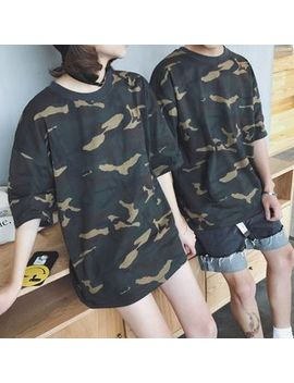 couple-matching-camo-elbow-sleeve-t-shirt by bienvenu