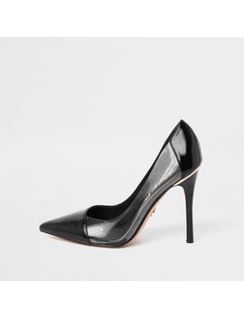 black-perspex-side-pumps by river-island