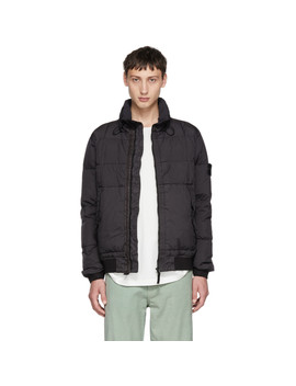 black-down-bomber-jacket by stone-island