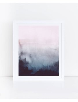 pink-blue-abstract-art,-blue-pink-watercolor-print,-watercolor-printable-art,-abstract-watercolor-print,-pink-navy-print,-abstract-printable by etsy