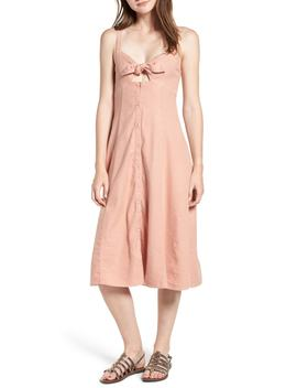slub-tie-front-dress by splendid