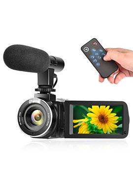 camcorder-digital-video-camera-full-hd-1080p-30fps-vlogging-camera-with-external-microphone-and-remote-control by linnse