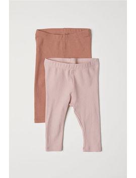 2-leggings-en-punto-de-canalé by h&m