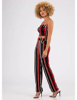 chaining-day-striped-top-and-pant-set by gojane