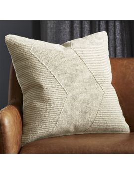 "23"" Bias Natural Pillow by Crate&Barrel"