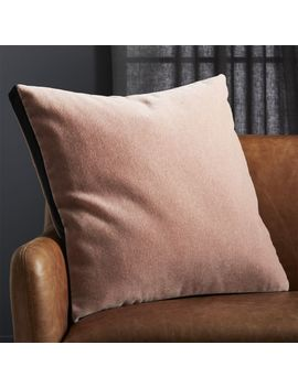 "23"" Pink Mohair Pillow by Crate&Barrel"