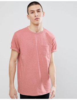 river-island-roll-sleeve-t-shirt-in-dark-pink-marl by river-island