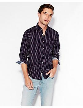 slim-soft-wash-geometric-print-shirt by express