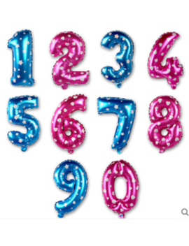 """16"""" (35 40cm) Pink/Blue Number Foil Balloons by Unbranded"""