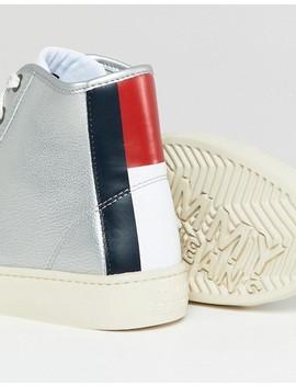 Высокие-кожаные-кроссовки-с-логотипом-на-пятке-tommy-jeans by asos