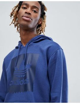 adidas-skateboarding-pullover-hoodie-with-blackbird-logo-in-blue-cw2357 by adidas